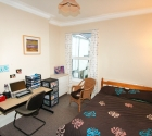 Plymouth University student accommodation double bedroom.