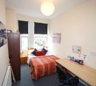 Plymouth university accommodation student double bedroom.