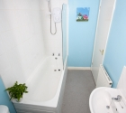 Student bathroom in Plymouth University accommodation in Stoke.
