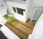 Wooden decked court yard outside Plymouth University 1 bed flat.
