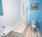 Modern bathroom in plymouth uni students shared property in stoke.