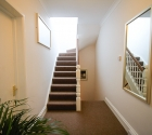 Staircase up to rooftop terrace in plymouth uni top quality student house.