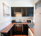 Refurbished modern kitchen in plym uni shared flat in stoke.