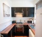 Refurbished modern kitchen in plym uni shared flat in stoke.