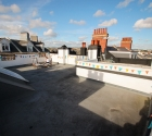 Roof terrace with seating in plymouth university student shared property.