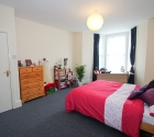 Plymouth university student 3 bed property large bedroom.