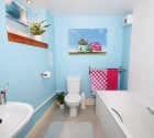 University of plymouth shared flat modern bathroom.