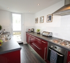 Fully refurbished modern kitchen in plymouth university shared flat.