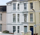 Modern terraced plymouth university student shared house.