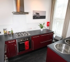 Modern finish kitchen in Plymouth University couples flat.