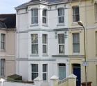 Modern renovated terraced shared plymouth university house.
