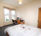 Plymouth university student flat large double bedroom.