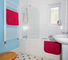 Modern bathroom in Plymouth University student accommodation.
