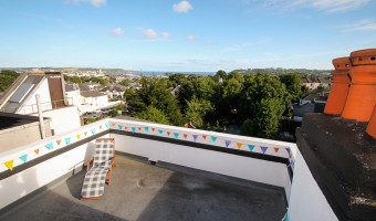 Plymouth university accommodation shared flat sea view terrace.