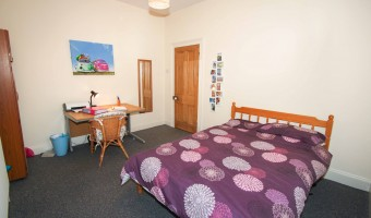 Large University of Plymouth student accommodation double bedroom.